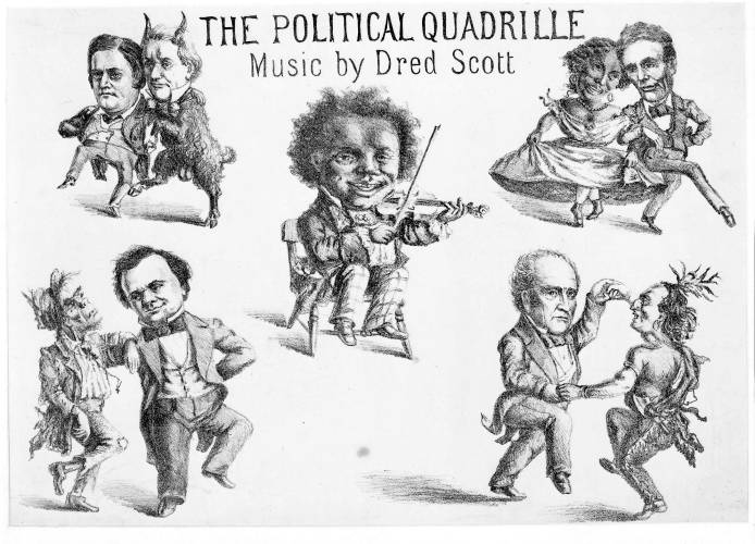 Political Quadrille Music By Dred Scott Abraham Lincoln