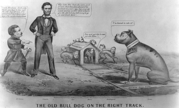 The old bull dog on the right track