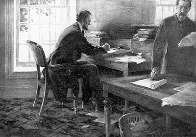 Image result for at work Abraham lincoln